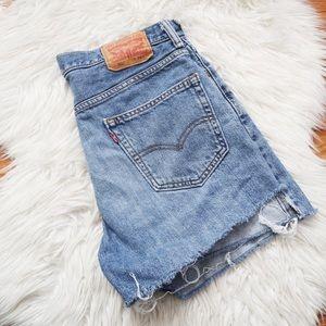 Vintage Levi's 550 Cut Off Jean Shorts Light Wash